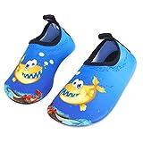 Kinder Badeschuhe Wasserschuhe Strandschuhe Schwimmschuhe Aquaschuhe Surfschuhe Barfuss Schuh für Jungen Mädchen Kleinkind Beach Pool(Blau 26 27)