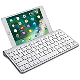 OMOTON Wireless Deutsche Bluetooth Tastatur / Keyboard (ultraschlanke) für Apple iPad Air, iPad Pro, iPad Mini,iPhone x,iPhone 8 / 7 /6s Plus, iPhone 8/7/6 /6s,und andere iOS Gerät,QWERTZ, mit Halterung