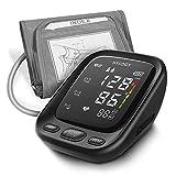 Oberarm Blutdruckmessgerät, HYLOGY Digital Vollautomatisch Blutdruckmessgerät und Pulsmessung, Großes LED Display und Große Manschette, 2x90 Dual-User-Modus(Mehrweg)