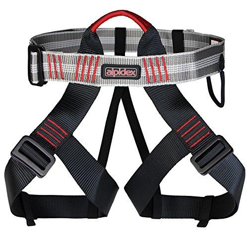 Universal Klettergurt TRAD TAIPAN Hüftgurt Sitzgurt von Alpidex verstellbare Beinschlaufen Materialschlaufe