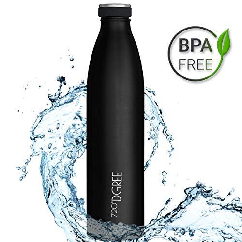 720°DGREE Edelstahl Trinkflasche milkyBottle 1L, 1000ml | Innovative Isolierflasche | Auslaufsichere Thermosflasche | Perfekte Outdoor Thermoskanne für Kinder