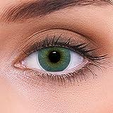 """Stark deckende natürliche blaue Kontaktlinsen farbig """"Atlantis Blue"""" + Behälter von LENZOTICA I 1 Paar (2 Stück) I DIA 14.00 I mit Stärke I -2.50 Dioptrien"""