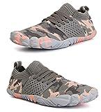 WHITIN Herren Damen Traillaufschuhe Minimalistische Barfußschuhe 5 Five Finger Zehenschuhe Fivefinger Leichtgewicht Tennis,# 02 Rosa,40 EU