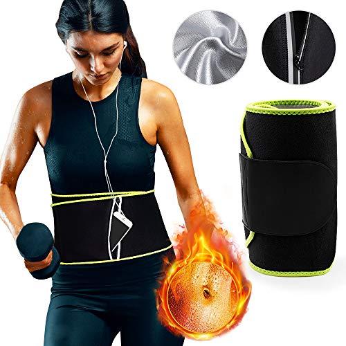 MMTX Bauchweggürtel Schwitzgürtel Bauchgurt für die Fettverbrennung Bauchgurt Frauen Männer, Verstellbarer Fitness Bauchgurt mit Reißverschlusstasche, Gewichthebergürtel Schweißabgurt Taille