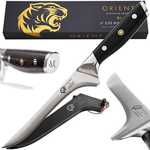 Orient Ausbeinmesser 15cm Damast Japanisch Stahl - Damastmesser Aus Japanischem AUS-10 Edelstahl