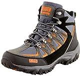 GUGGEN Mountain Bergschuhe Bergstiefel Wanderschuhe Wanderstiefel Mountain Boots Trekkingschuhe mit Echtem Leder, Farbe Grau-Orange, EU 43