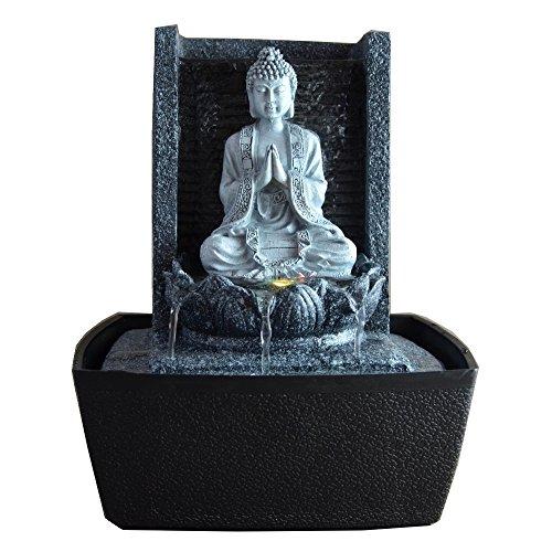 zen' Light scfrb1Zimmerbrunnen Mauer Buddha Gebet Dunkelgrau/Schwarz 20x 15x 26cm