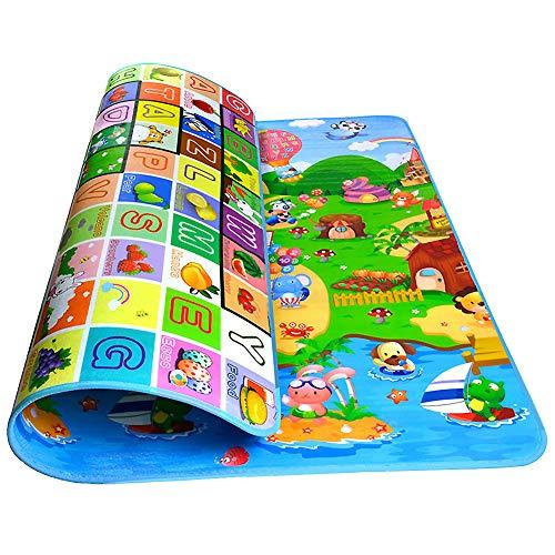 Krabbelmatte Baby, Swonuk 200 * 180 cm Kinderspielteppich Spielmatte Spielteppich Schaumstoffmatte Baby Kleinkind Crawl Mat Spielmatte Babyschleichenmatte Picknick-Decke