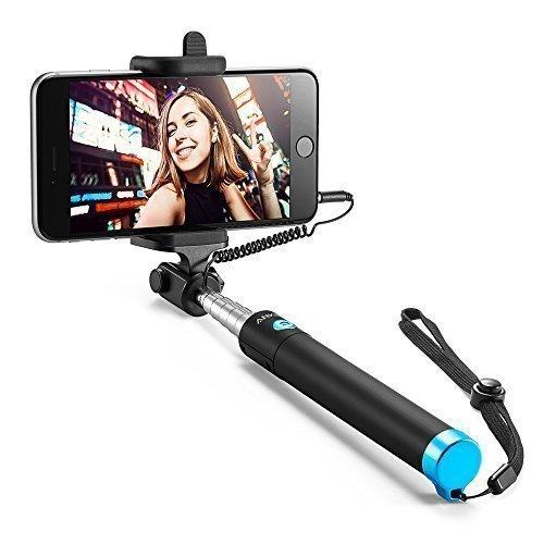 Anker Selfie Stick, Verstellbare Selfie-Stange, ohne Akku, mit Kabel, für iPhone 6s / 6 / 5, Galaxy, Nexus und viele mehr, in Schwarz