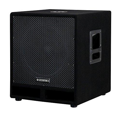 McGrey PAS-115 15' passiver DJ PA Subwoofer (Bass Box, 300/600/1200 Watt RMS/Musikleistung/Peak, Bassreflex-Kanäle, 15' Woofer, SPK-Anschlüsse) schwarz