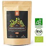 Holi Natural Premium BIO Ashwagandha Wurzel Pulver - 250g - ECHTE Indische Withania Somnifera aus kontrolliert biologischem Anbau - im biologisch abbaubaren wiederverschließbaren Beutel