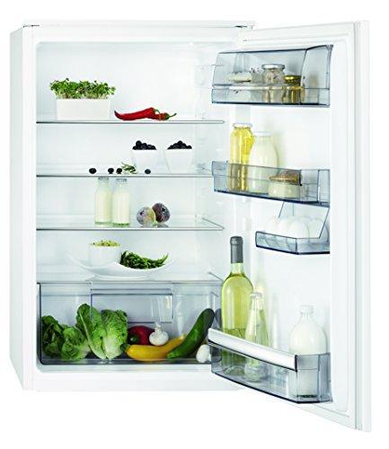 AEG SKB58821AS Kühlschrank / Kühlschrank ohne Gefrierfach / 142 l Kühlraum / kleiner Einbaukühlschrank mit  verstellbaren Tür- und Glasablagen / vollautomatisches Abtauen / A++ / H: 88 cm / weiß