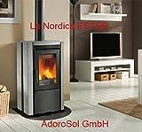 AdoroSol Vertriebs GmbH La Nordica Kaminofen Ester BII mit Natursteinverkleidung (7,5 kW)