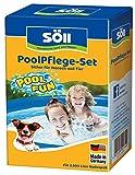 Söll Pool Pflege-Set für Pool, Schwimmbad, Planschbecken und auch Hundepool gegen Algen, Bakterien, Pilze und Sporen (AquaDes 250 ml + AlgenFrei 250 ml)