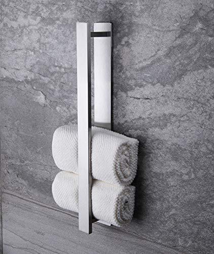 Ruicer Handtuchhalter Selbstklebend Handtuchstange Ohne Bohren Gästehandtuchhalter Edelstahl 40 cm