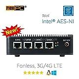 Perfect pfSense, Sophos, Untangle, Ubuntu, ClearOS, FreeBSD, Monowall, Debian etc Intel AES-NI Atom E3845 4 LAN With Wifi HD Fanless Firewall Appliance Router Barebone (0GB RAM, 0GB mSATA SSD)