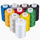 KLAGENA Qualitätsgarn aus 100% Polyester, 10-teilig, verschiedene Farben - Nähgarn / Nähmaschinengarn / Näh-Set / OEKO-TEX geprüfte Qualität - mit 2 Jahren Geld-zurück-Garantie