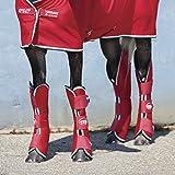 Horseware Amigo Travel Boots - Red/White - Transportgamaschen, Größe:Warmblut (L)