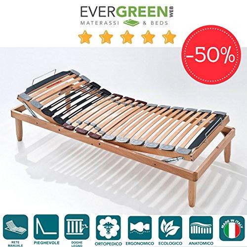 EvergreenWeb Lemon Manuelle Holz Lattenrost Kleine Größe–3ft x 6ft3(90x 190cm) mit Kissen