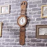 GZHYTAN Kreative Wanduhr Reines Massivholz Umweltfreundlich Retro Uhr Typ Uhr Schlafzimmer Wohnzimmer Home Clock Dekoration Mode Wandkarte Schlafzimmer Pendeluhr (Farbe : A, größe : 78X20cm)
