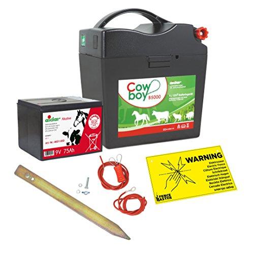 Weidezaungerät Eider Cowboy B5000 ( 9V / 12 V ) - Extra Power durch integrierte Alkaline Batterie - für maximale Hütesicherheit