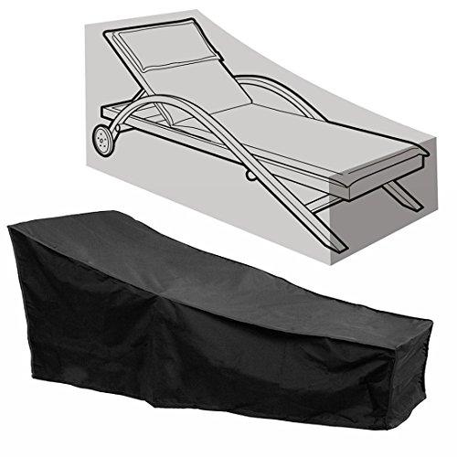 Comfysail Schutzhülle Abdeckung für Liegestuhl Sonnenliege Gartenliege Wasserfeste und UV-Beständige Inklusive Aufbewahrungstasche
