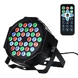 36 LED 1w Scheinwerfer Par Lichter,Lunsy RGB Bunte 7 Beleuchtung Modi Bühnenbeleuchtung Flexible Fernbedienung DMX Steuerung Disko Licht