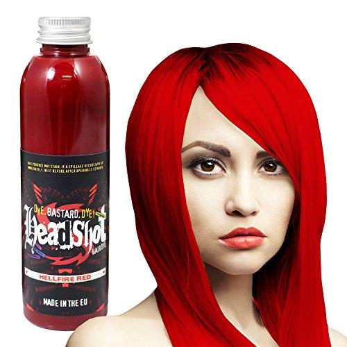 Rote Haarfarbe Headshot Hellfire Red, Semi-permanente Haartönung 150 ml