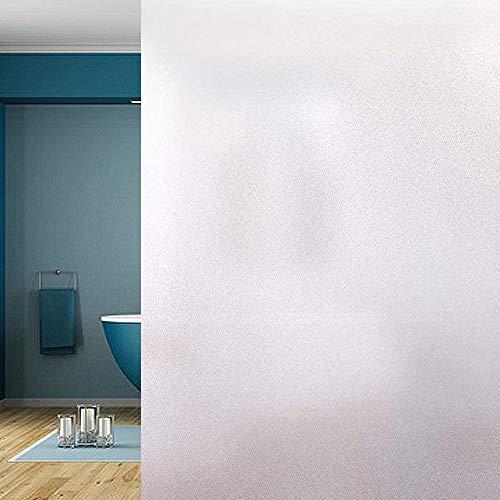 LEBENSWERT Fensterfolie Selbsthaftende Milchglasfolie Blickdichte Sichtschutzfolie Statisch Haftend Anti-UV für Büro Wohnzimmer Schlafzimmer Matt (45 x 200 cm)