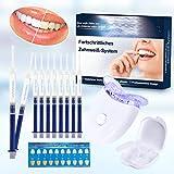 Zahnaufhellung Gel, Teeth Whitening Kit Ohne Peroxid Professionelle Zahn Whitening Kit,Gegen Gelbe Zähne,Rauchflecken,Schwarze Zähne