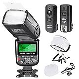Neewer PRO i-TTL Flash Deluxe Kit für Nikon DSLR SLR Kamera- Inklusive: Neewer VK750II Auto-Focus Flash, Wireless Auslöser, N1-Kabel & N3-Kabel, Hart & Soft-Diffusor, Objektivdeckelhalter