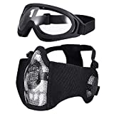 KUYOU Paintball Maske, Airsoft Masken Softair Maske Mesh-Maske Airsoft Paintball Maske Schutzbrille Airsoft Taktische Maske Paintball Schutzbrille Klar Stahl Maske üBerbrille Airsoft Mesh Maske