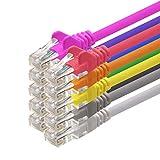 1aTTack CAT5 UTP Netzwerk-Patch-Kabel 2m mit 2X RJ45 Stecker Set (10 Stück, 10 Farben)