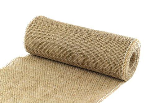 ALJO DESIGN Juteband Tischläufer/Tischband, Natur, 30 cm breit, 10 m Rolle