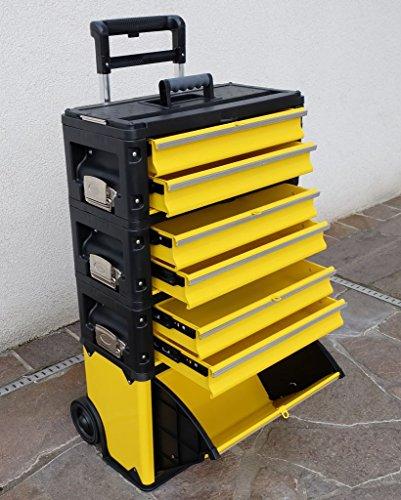 Metall Werkzeugtrolley XXL Type: 305BBBD - jetzt neu mit Schubladenverriegelung und Schloss von AS-S