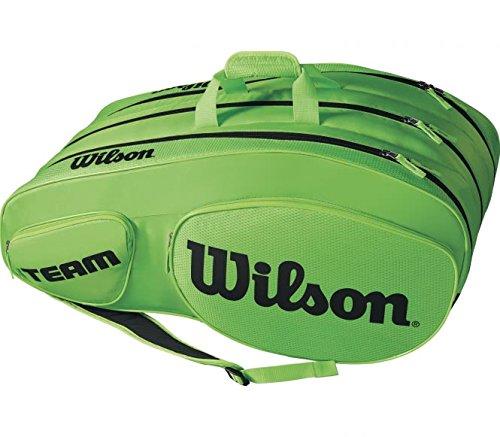 Wilson Damen/Herren Tennis-Tasche, für Profispieler, Team III 12 PK, Einheitsgröße, grün/schwarz, WRZ854812