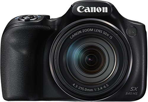 Canon PowerShot SX540 HS Digitalkamera (20,3 Megapixel CMOS-Sensor, 50-fach Ultrazoom, 100-fach ZoomPlus, WiFi, Full HD) schwarz