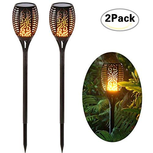 Solar Garten Flammen Fackeln 96 LED Bis Dawn Automatische Ein / Aus(Licht Sensor), spotlight Gartenleuchte licht garten beleuchtung soalr spotlight Außen warmlicht Wasserdicht IP65
