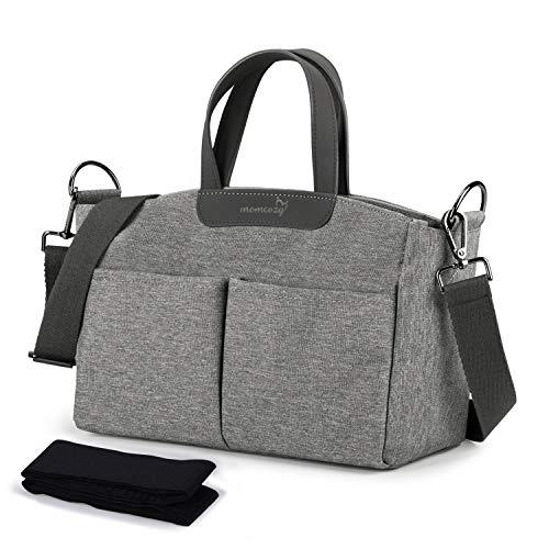 Momcozy Kinderwagen-Organizer mit 2 Isolierten Taschen, Buggy Organizer kinderwagentasche Baby Zubehör Aufbewahrungstasche mit Schulterriemen, Reißverschlusstasche, Universell für Alle Buggy-Modelle
