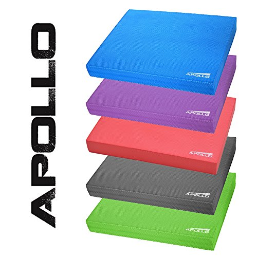 Apollo Balance Pad Koordinationsmatte 24x38x6cm, für Fitness, Yoga und Pilates, Blau