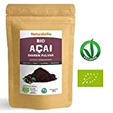 Açaí Beeren Pulver Bio [ Gefriergetrocknet ] 200g | Pure Organic Acai Berry Powder ( Freeze - Dried ) | 100% aus Brasilien, Getrocknet, Rohkost und Extrakt aus Pulp der Acai-Beeren Frucht | Superfood Reich an Antioxidantien und Vitaminen | Ideal für Saft, Smoothie, Rezepte, in der Müsli | 100% Vegan Friendly | NATURALEBIO