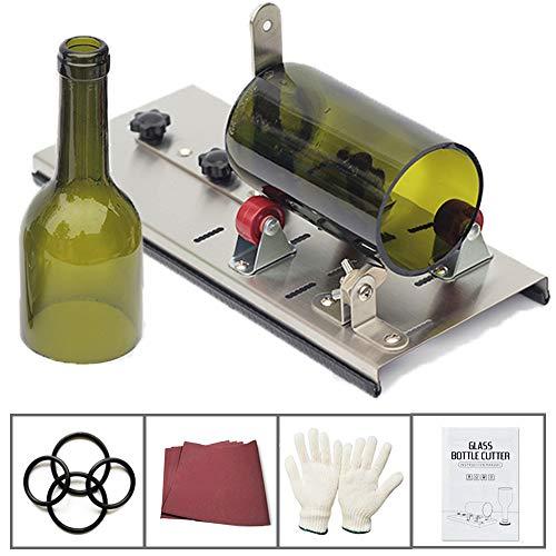 Glasschneider für Flaschen, Edelstahl Flaschenschneider Glas Bottle Cutter Glasschneider für Stained Glass, Flaschen Pflanzmaschinen, Flaschen Lampen, Kerzenständer