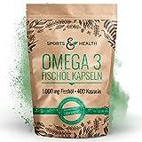 Omega 3 Fettsäuren Fischöl - 400 Kapseln Hochdosiert In Besonderer Qualität - 1000mg Omega3 Fettsäuren Pro Kapsel - Qualität Der Fischölkapseln In Deutschland Geprüft