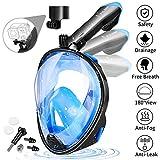 FYLINA Tauchmaske Schnorchelmaske Vollmaske Vollgesichtsmaske mit 180° Sichtfeld, Dichtung aus Silikon Anti-Fog und Anti-Leck Technologie für Alle Erwachsene