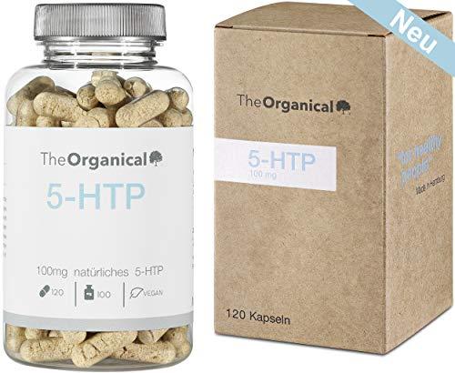 Einführungspreis: TheOrganical 5-HTP | 120 Kapseln mit 100mg natürlichem 5-HTP | Hergestellt in Hamburg