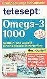 Tetesept Omega 3 Lachsoel, 1er Pack (1 x 80 Stück)