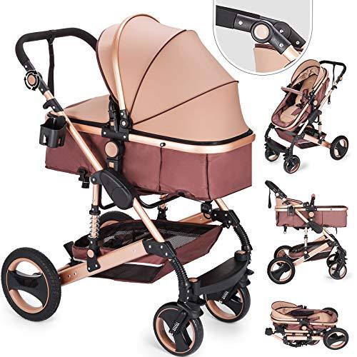 FlowerW Rollstuhl Kinderwagen Anti Shock Folding Leichter Kinderwagen Zertifizierung ECE Multi Funktionen Standard Kombikinderwagen