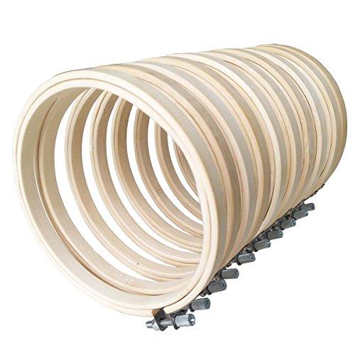 10Pcs Stickrahmen Bambus Stickerei Ring Cross Stitch Hoop Stickerei Rahmen Ø 10cm Nähset für Stickerei Kreuzstich Tapisserie