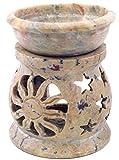 Guru-Shop Duftlampe aus Speckstein, 12x9x9 cm, Duftlampen & Öllampen