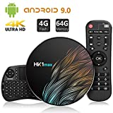 TICTID Android 9.0 TV Box HK1 MAX mit Tastatur 【4G+64G】 Smart tv Box mit RK3328 Quad-core unterstützt 4K/ 100M LAN/1080P/AV /H.265/WIFI 2.4G/5.8G Android TV Box Media Player